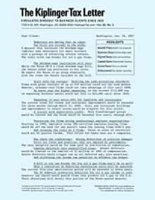 Kiplinger's Tax Letter